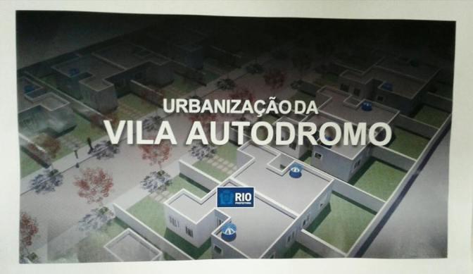 Nota sobre a Urbanização da Vila Autódromo
